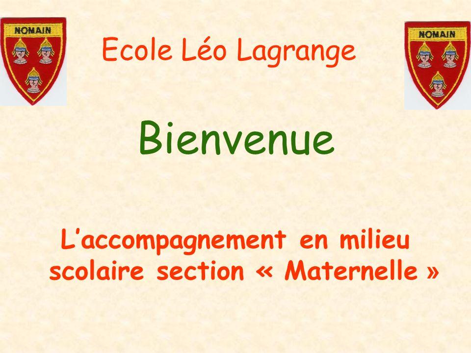 L'accompagnement en milieu scolaire section « Maternelle »