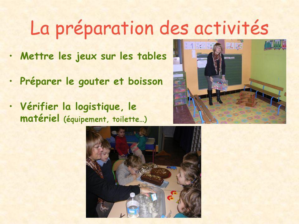 La préparation des activités