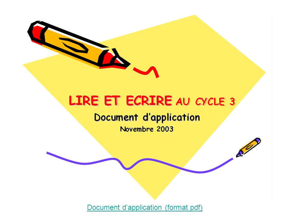 Document d'application (format pdf)