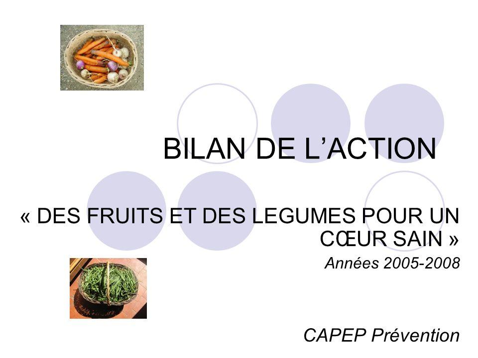 BILAN DE L'ACTION « DES FRUITS ET DES LEGUMES POUR UN CŒUR SAIN »