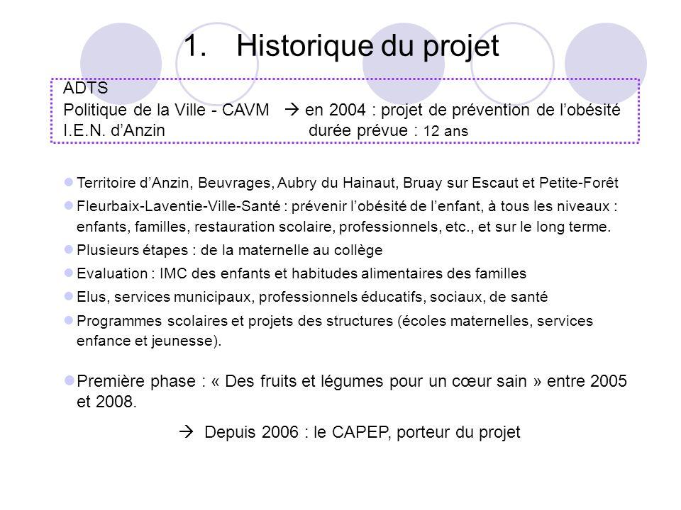  Depuis 2006 : le CAPEP, porteur du projet