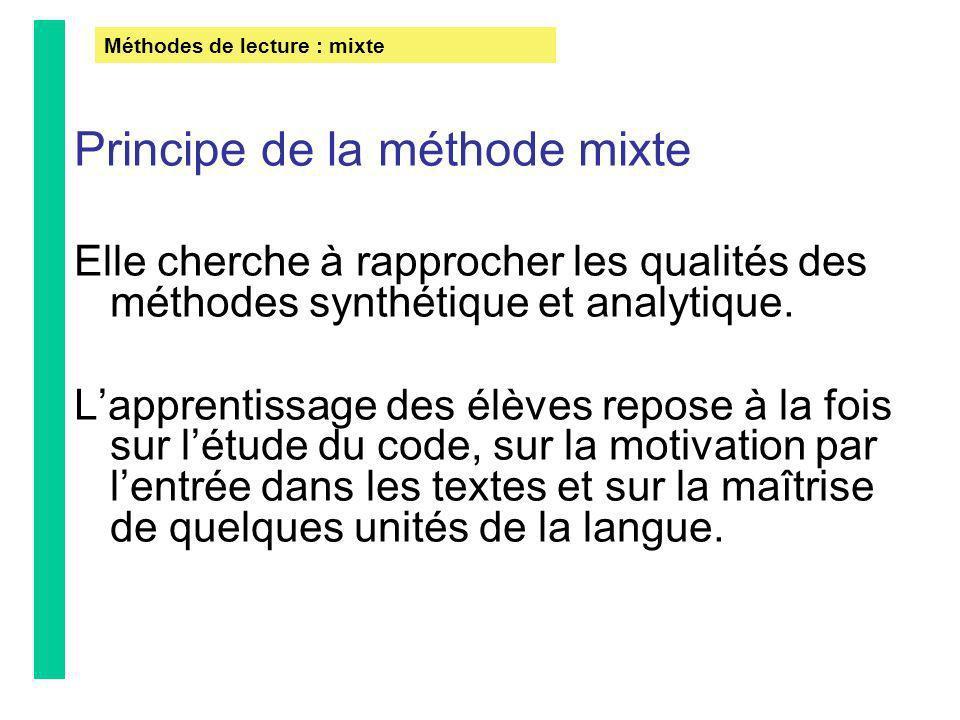 Principe de la méthode mixte