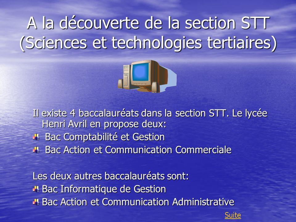 A la découverte de la section STT (Sciences et technologies tertiaires)
