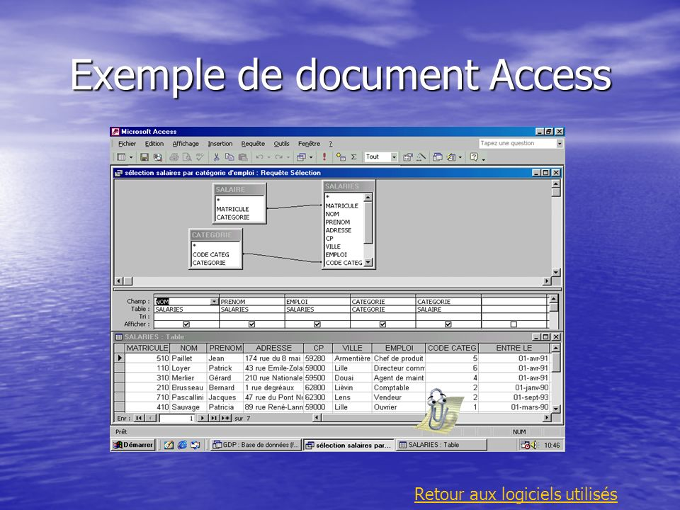 Exemple de document Access