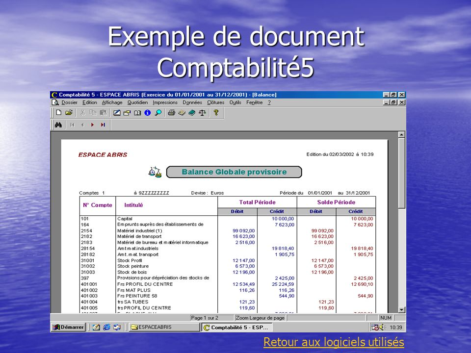 Exemple de document Comptabilité5