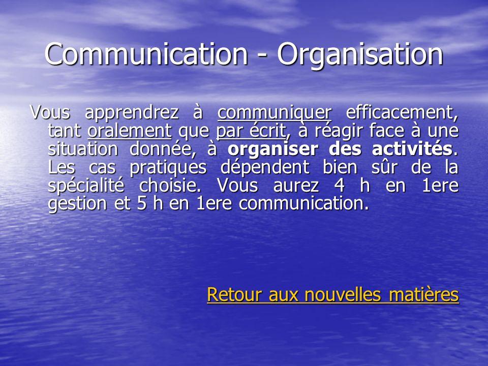 Communication - Organisation