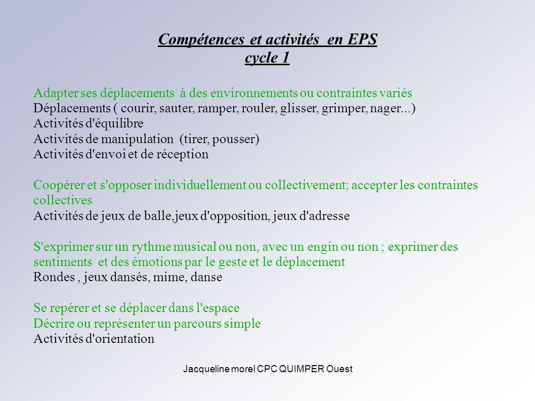 Compétences et activités en EPS
