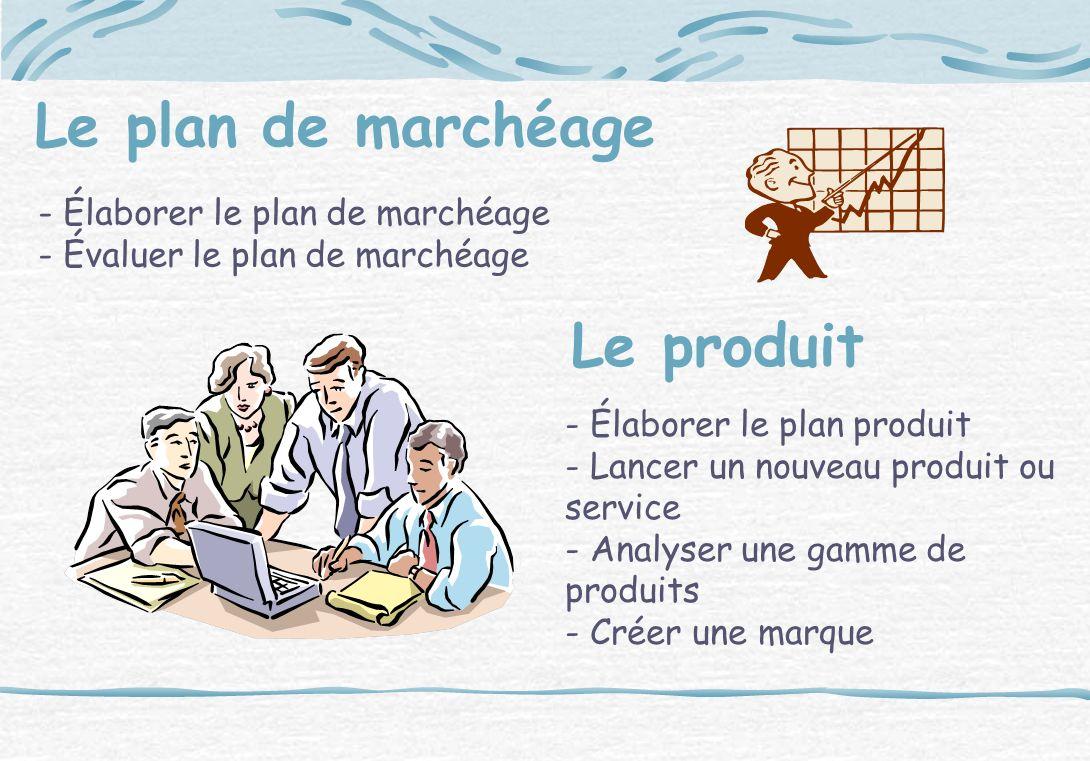 Le plan de marchéage Le produit