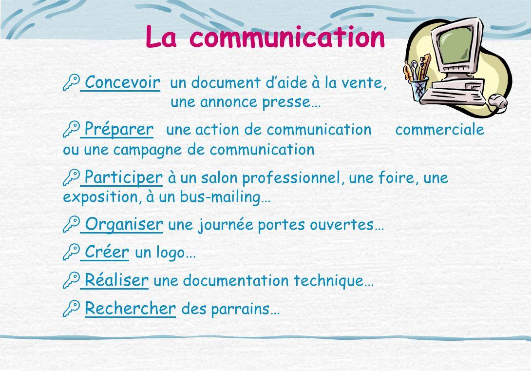 La communication  Concevoir un document d'aide à la vente,