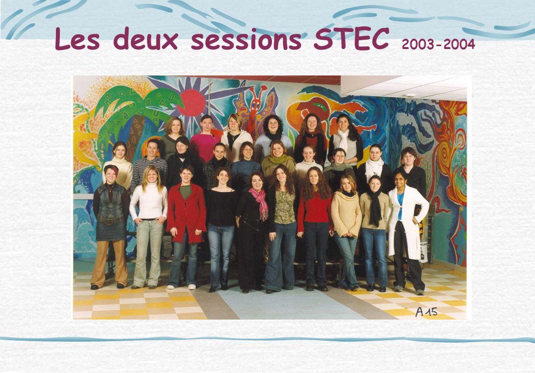 Les deux sessions STEC 2003-2004