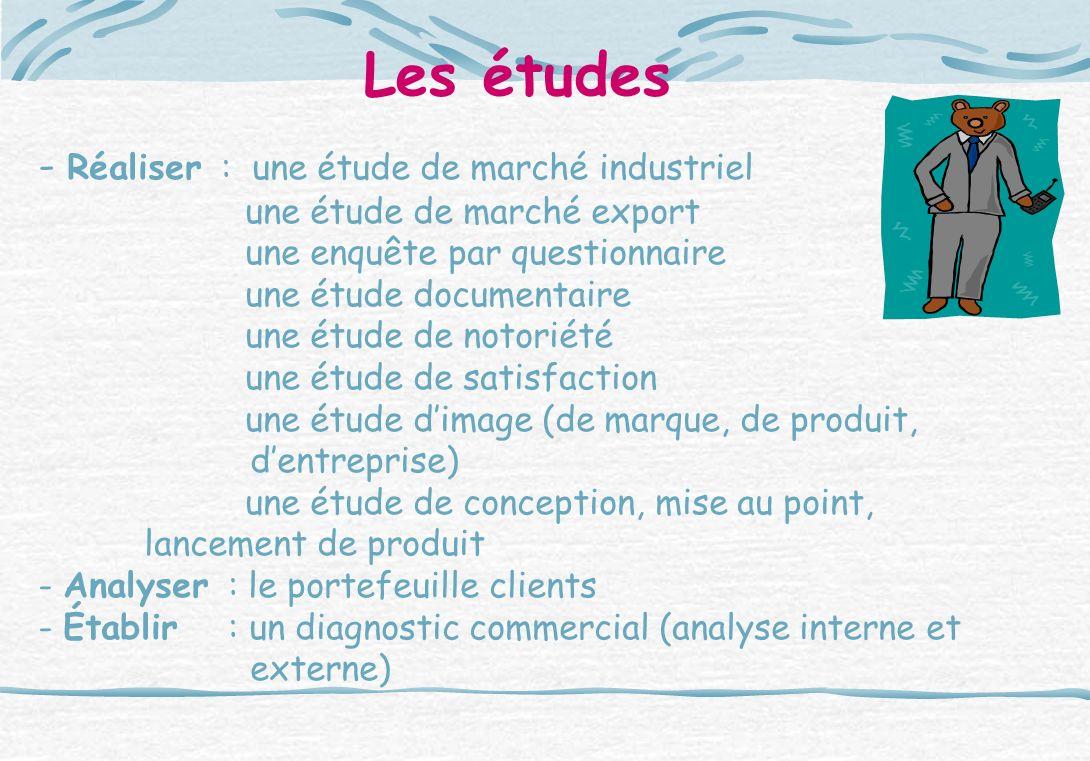 Les études - Réaliser : une étude de marché industriel