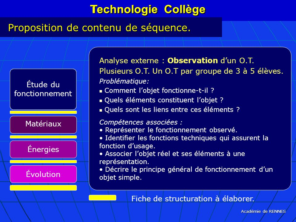 Technologie Collège Technologie Collège