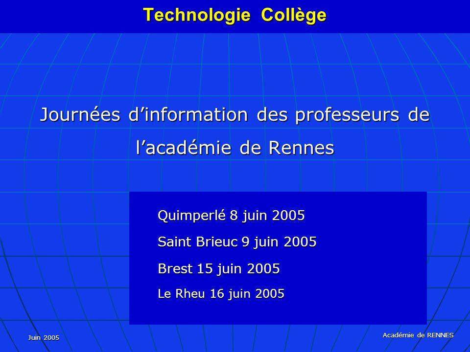 Journées d'information des professeurs de l'académie de Rennes