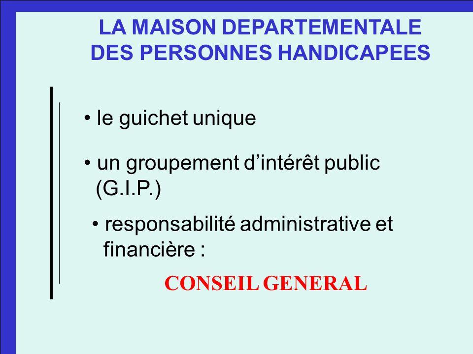LA MAISON DEPARTEMENTALE DES PERSONNES HANDICAPEES