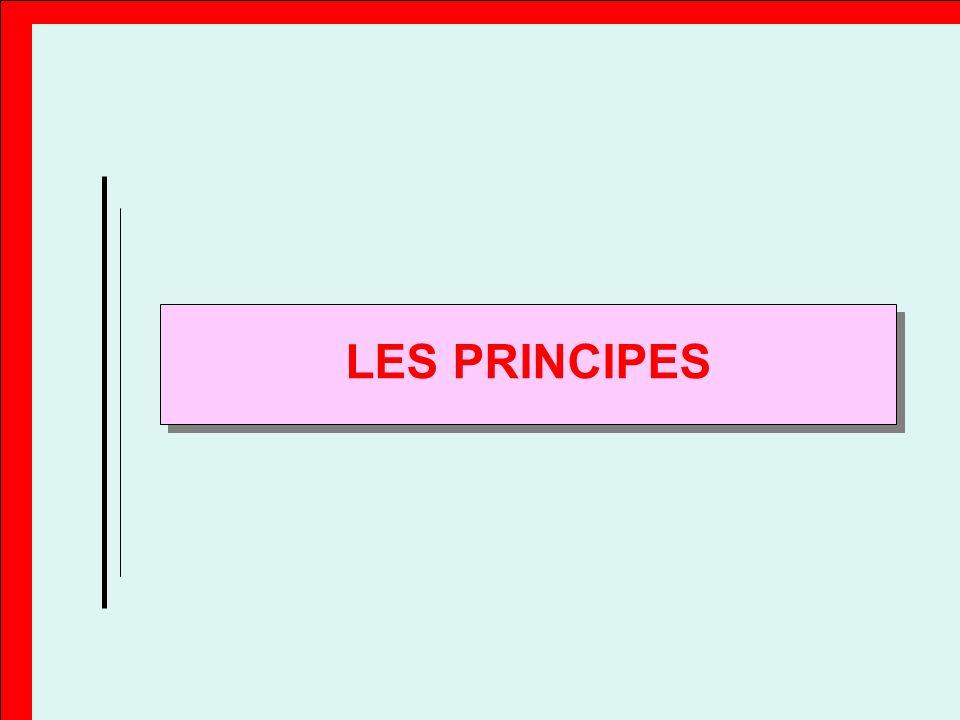 LES PRINCIPES Principe Il s'agit