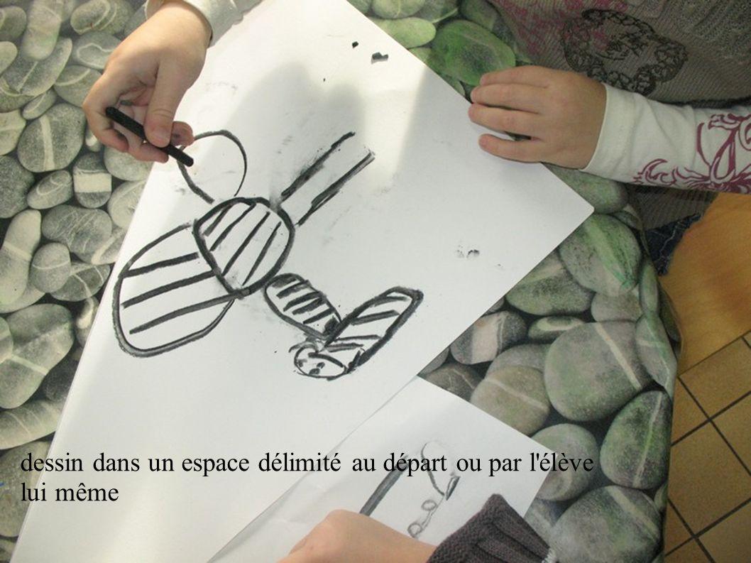 dessin dans un espace délimité au départ ou par l élève lui même