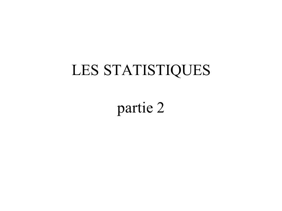 LES STATISTIQUES partie 2