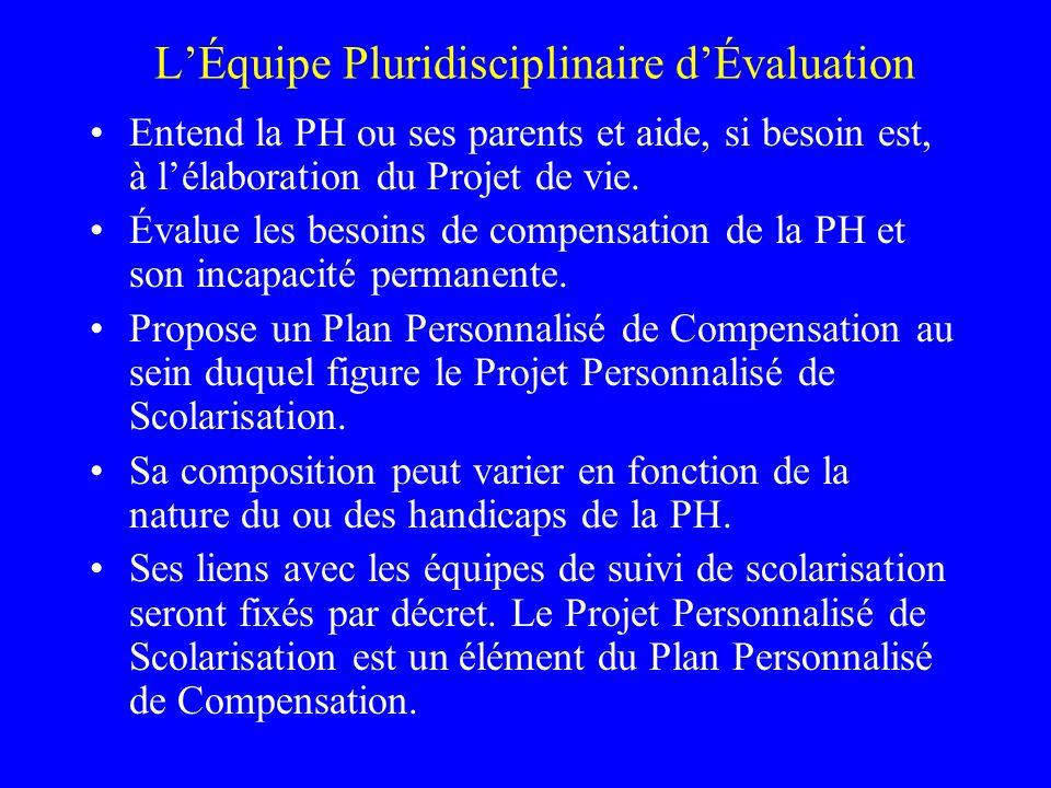 L'Équipe Pluridisciplinaire d'Évaluation
