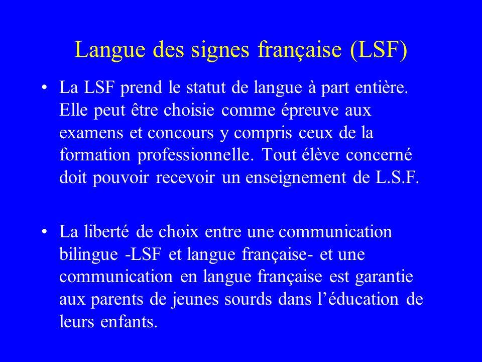 Langue des signes française (LSF)
