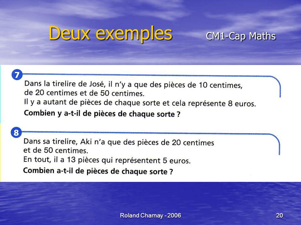 Deux exemples CM1-Cap Maths