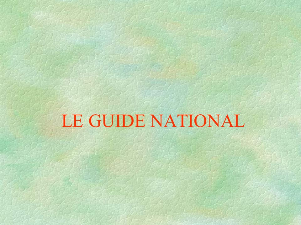 LE GUIDE NATIONAL