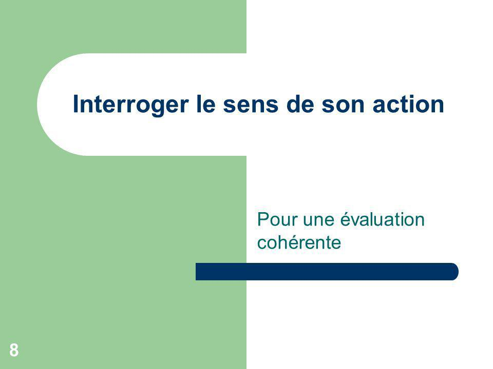 Interroger le sens de son action