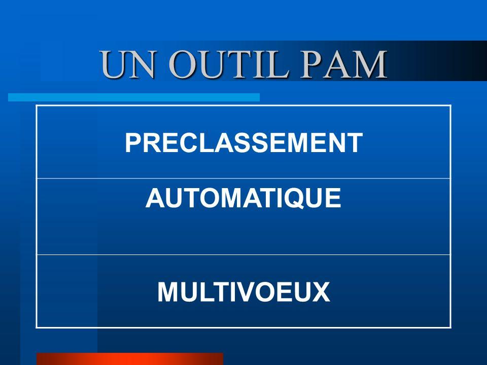 UN OUTIL PAM PRECLASSEMENT AUTOMATIQUE MULTIVOEUX