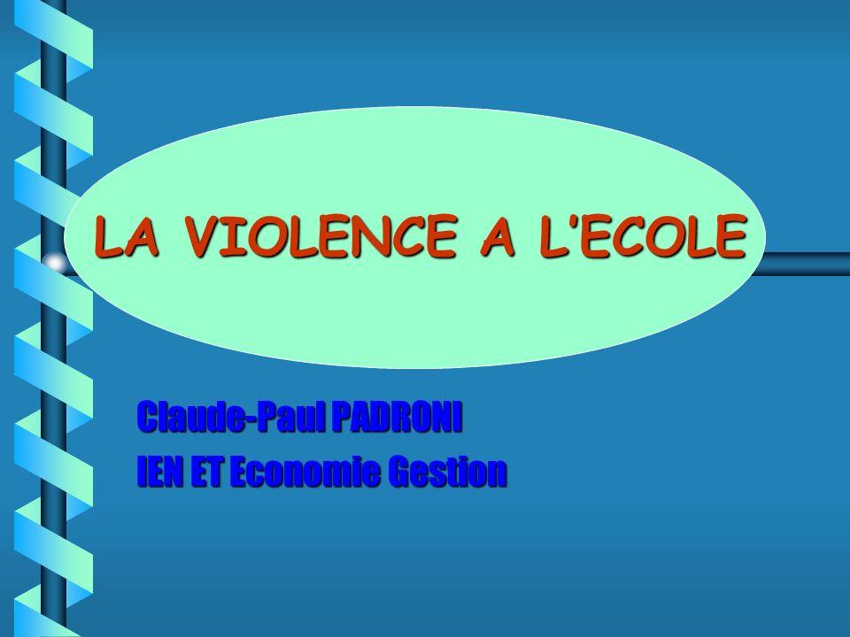 Claude-Paul PADRONI IEN ET Economie Gestion