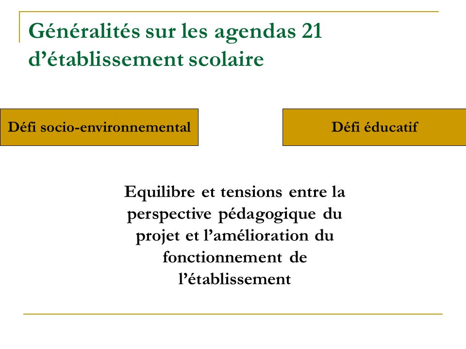 Défi socio-environnemental