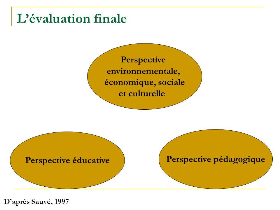 Perspective pédagogique Perspective éducative