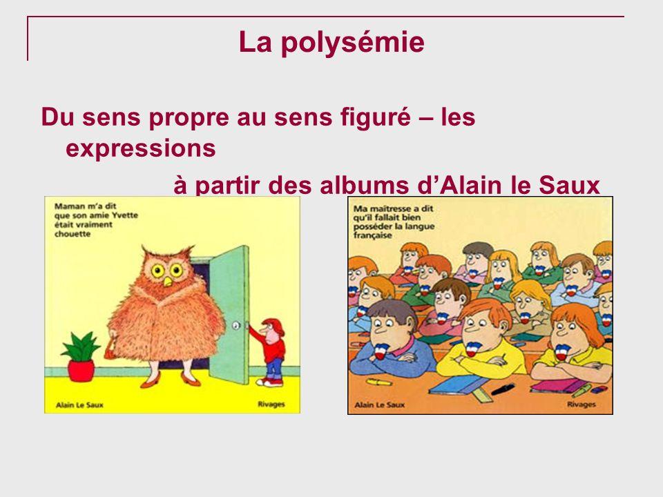 La polysémie Du sens propre au sens figuré – les expressions