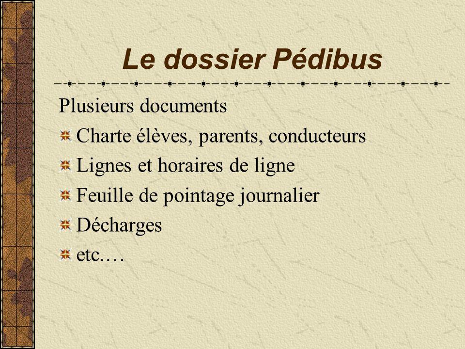 Le dossier Pédibus Plusieurs documents