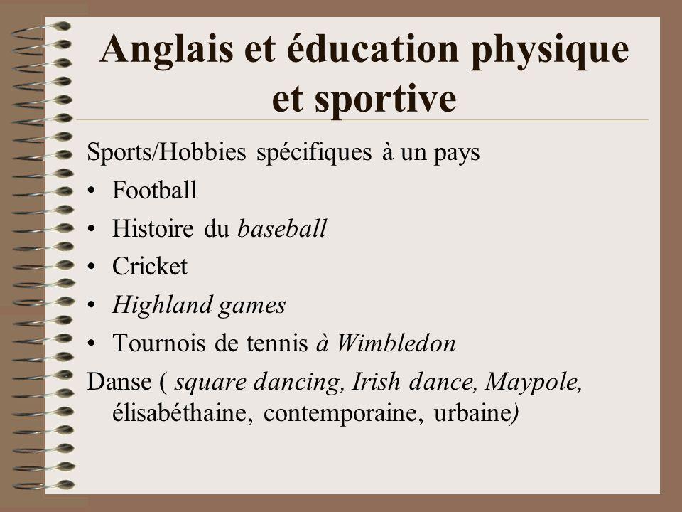 Anglais et éducation physique et sportive