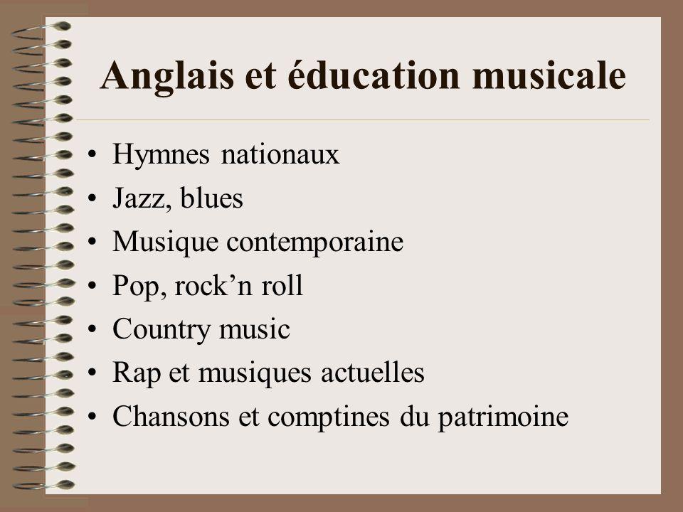 Anglais et éducation musicale