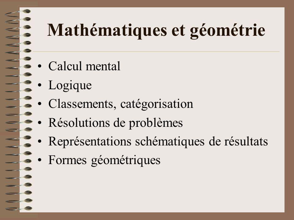 Mathématiques et géométrie