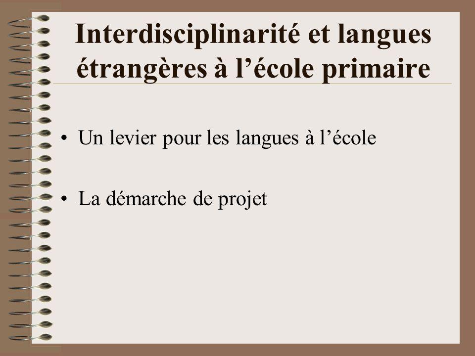 Interdisciplinarité et langues étrangères à l'école primaire