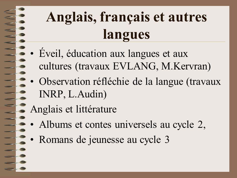 Anglais, français et autres langues