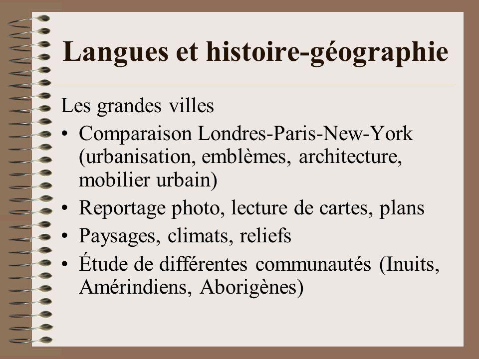 Langues et histoire-géographie