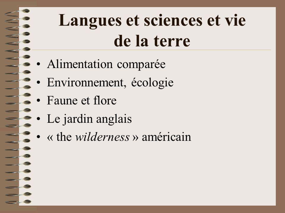 Langues et sciences et vie de la terre