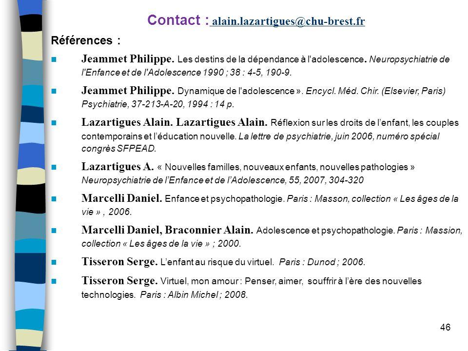 Contact : alain.lazartigues@chu-brest.fr
