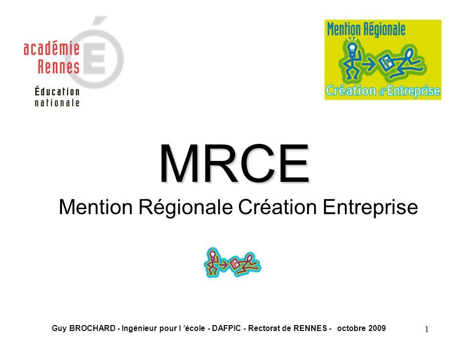 Mention Régionale Création Entreprise