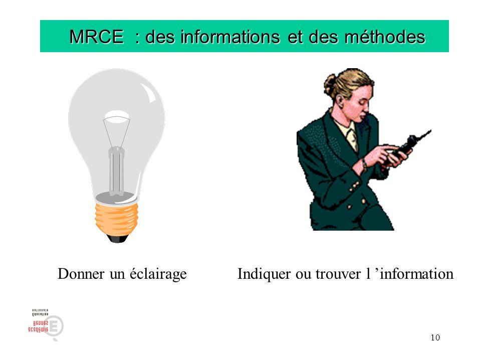 MRCE : des informations et des méthodes