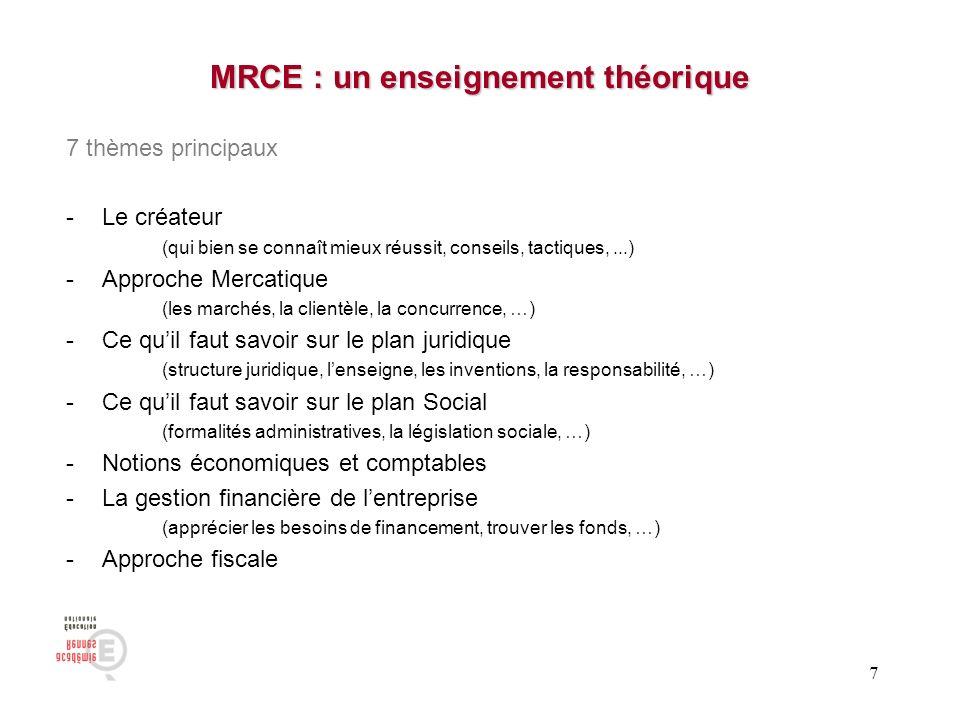 MRCE : un enseignement théorique