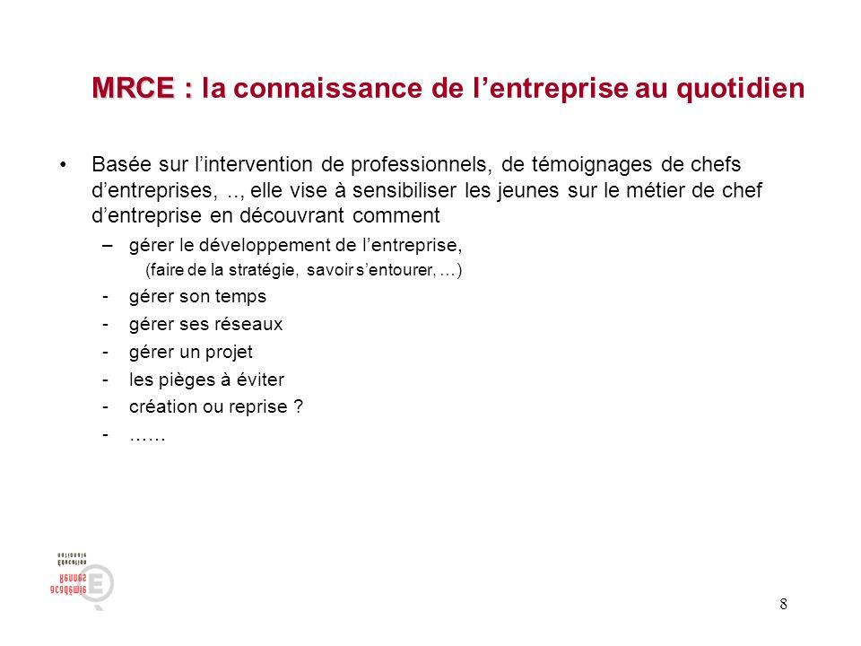 MRCE : la connaissance de l'entreprise au quotidien