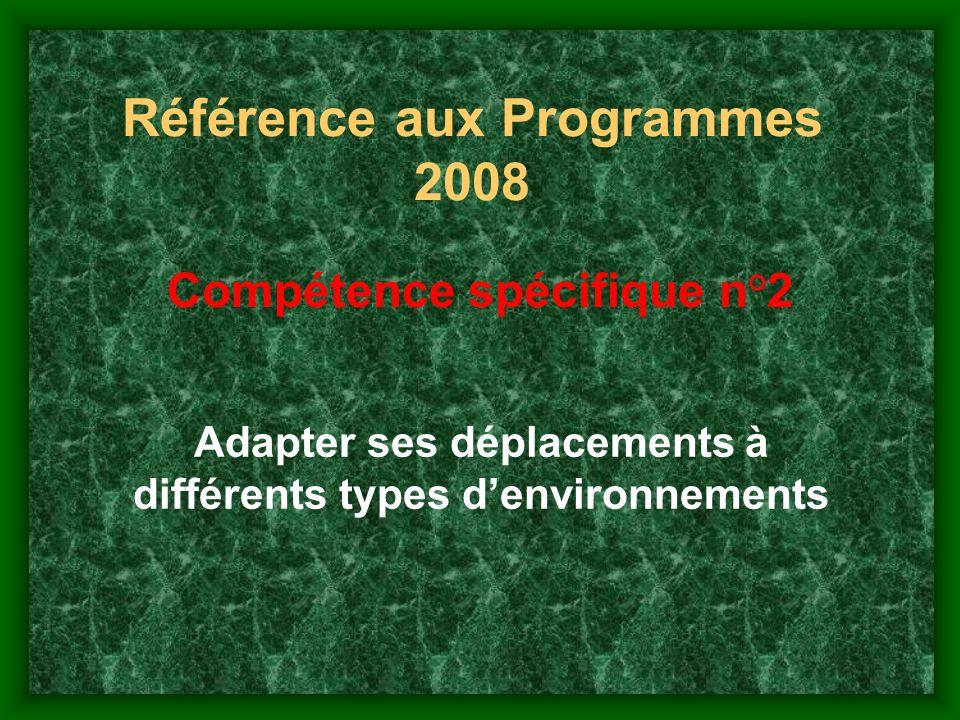 Référence aux Programmes 2008