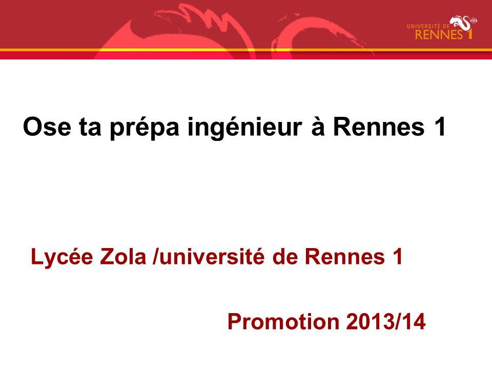 Ose ta prépa ingénieur à Rennes 1