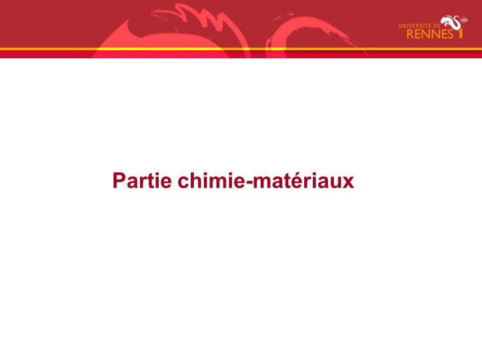 Partie chimie-matériaux