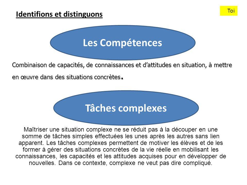 Les Compétences Tâches complexes