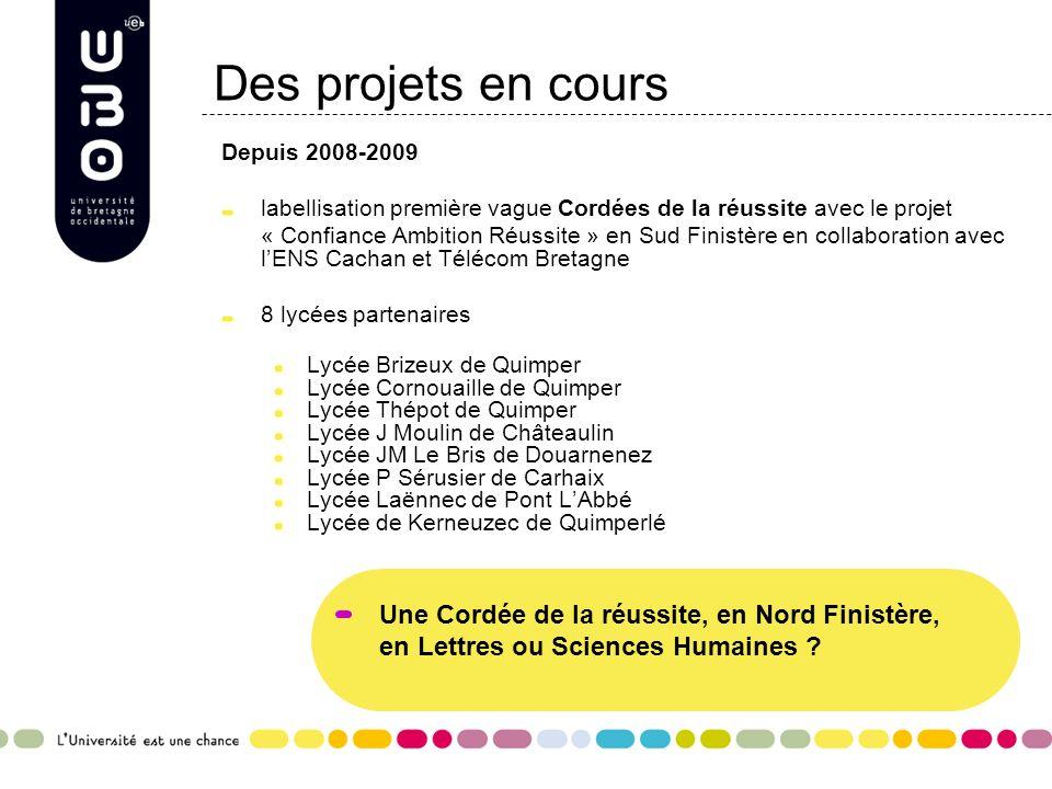 Des projets en cours Une Cordée de la réussite, en Nord Finistère,