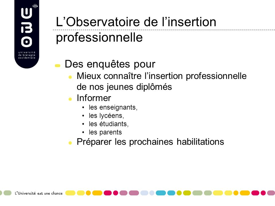 L'Observatoire de l'insertion professionnelle